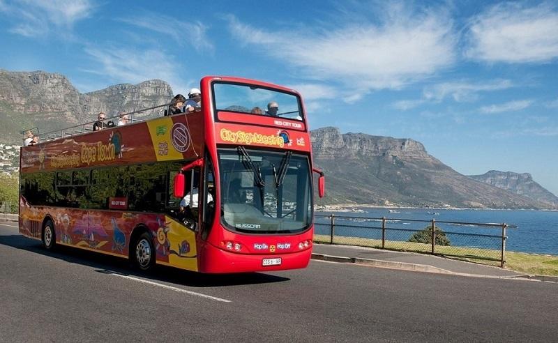 Ônibus turístico na África do Sul