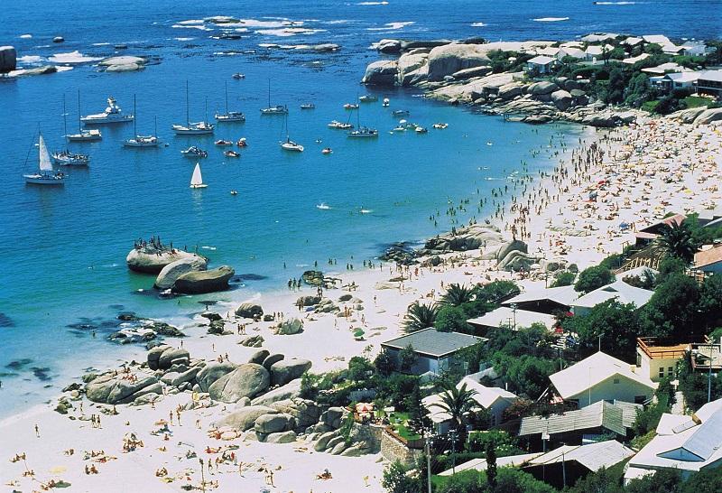 Praia na África do Sul