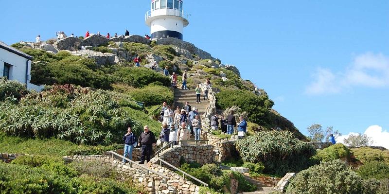 Farol em Cape Point na Cidade do Cabo