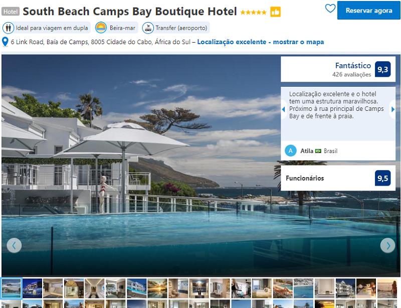 Fachada do South Beach Camps Bay Boutique Hotel na Cidade do Cabo